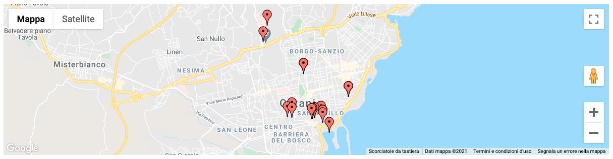 Mappa statica Catania