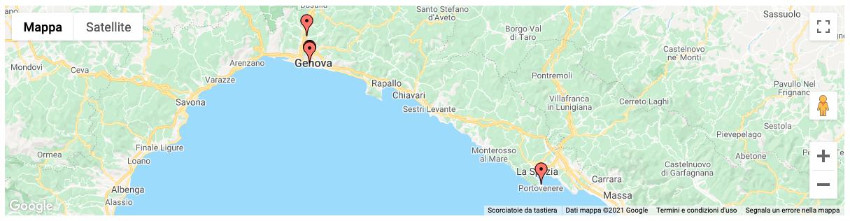 Mappa statica di Genova