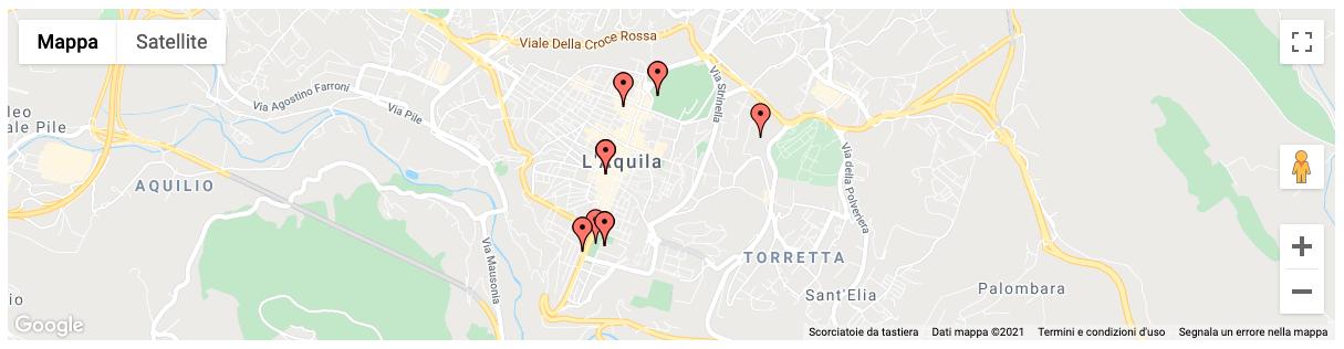Mappa statica di L'Aquila
